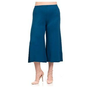 Women's Wide Leg Crop Culottes Plus Size